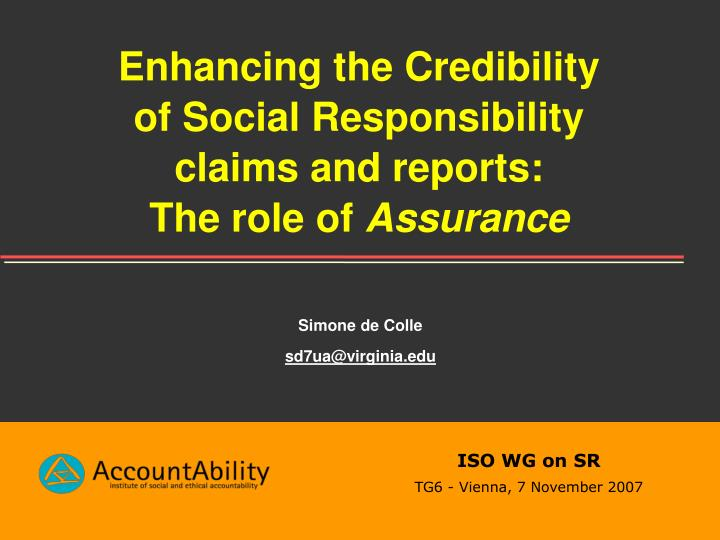 Enhancing the Credibility