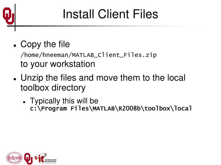 Install Client Files