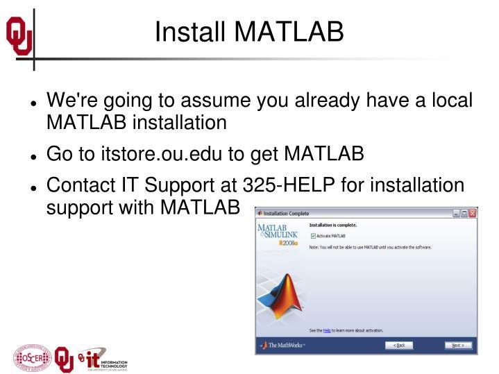 Install MATLAB