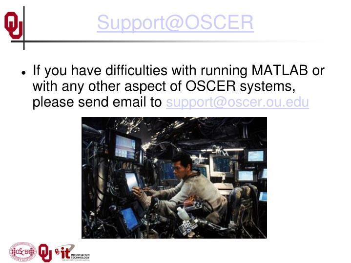 Support@OSCER