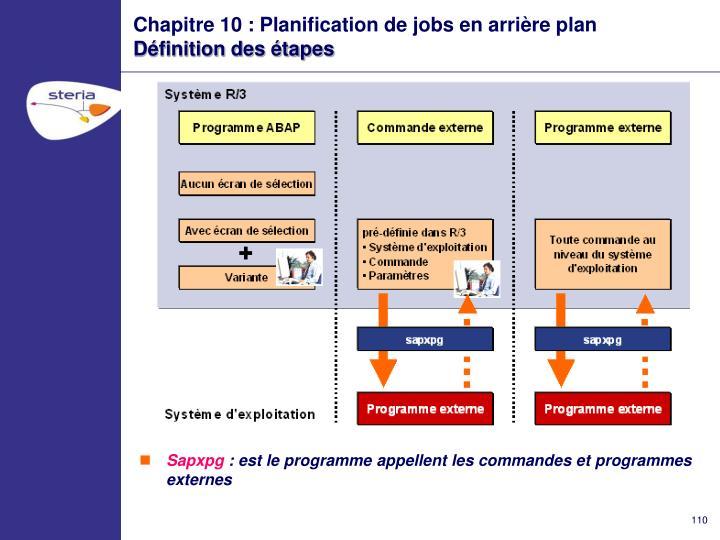 Chapitre 10 : Planification de jobs en arrière plan