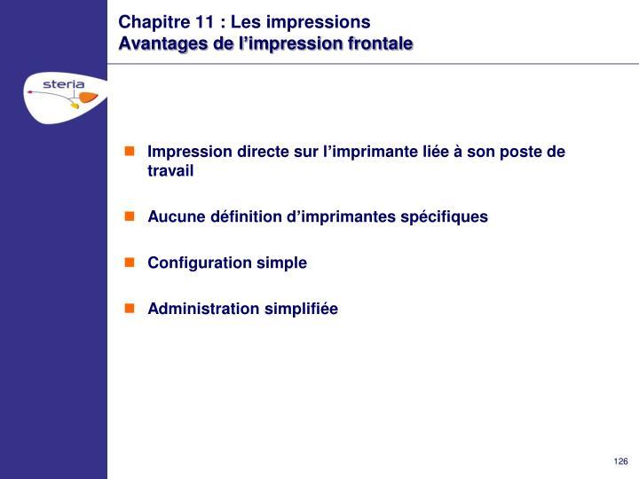 Chapitre 11 : Les impressions
