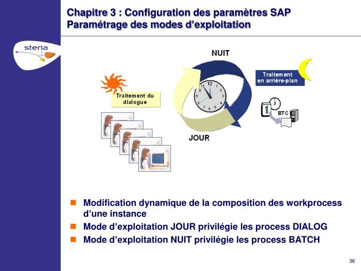 Chapitre 3 : Configuration des paramètres SAP