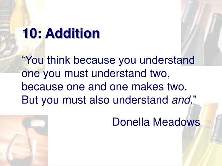 10: Addition