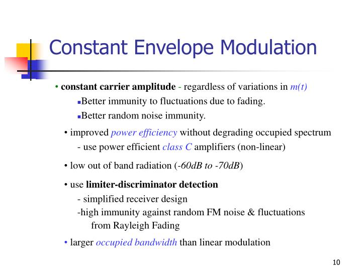 Constant Envelope Modulation