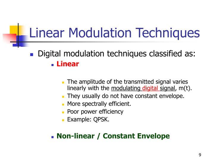 Linear Modulation Techniques