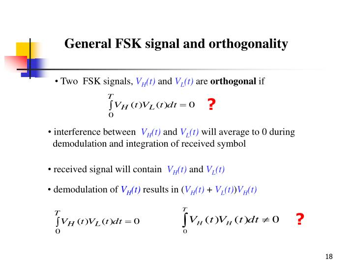 General FSK signal and orthogonality