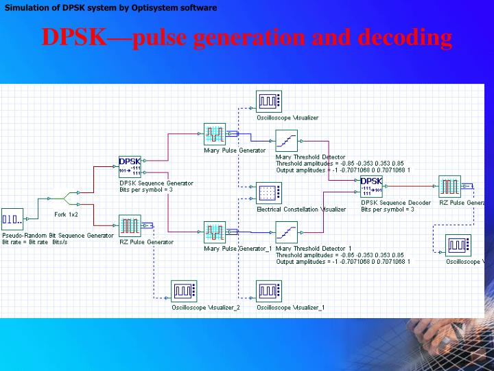 DPSK—pulse generation and decoding