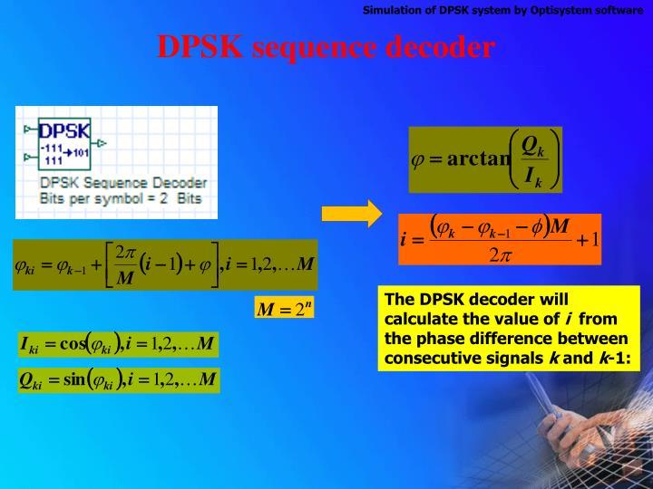 DPSK sequence decoder