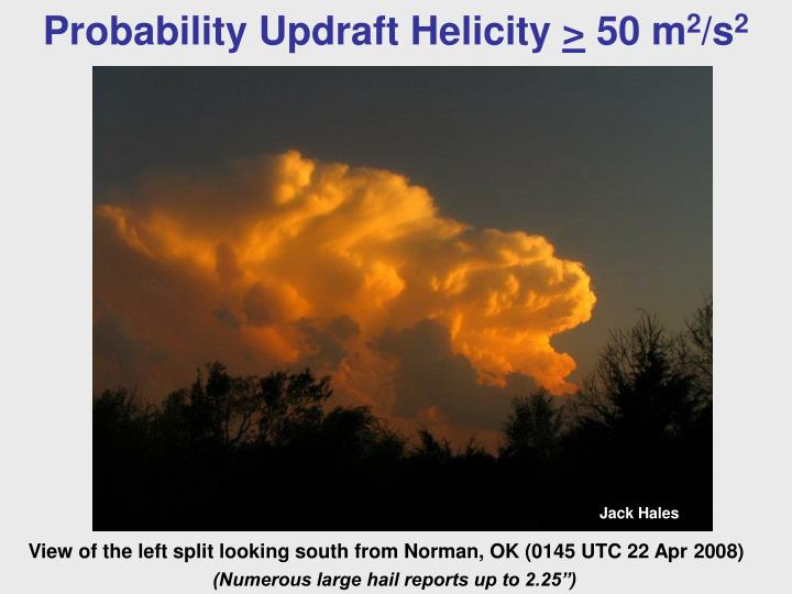 Probability Updraft Helicity