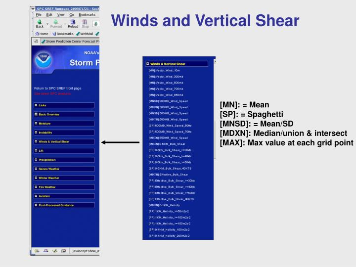 Winds and Vertical Shear