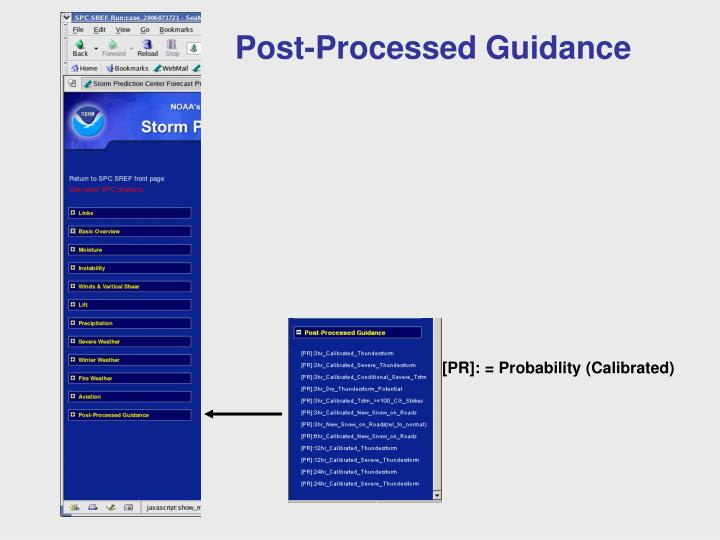 Post-Processed Guidance
