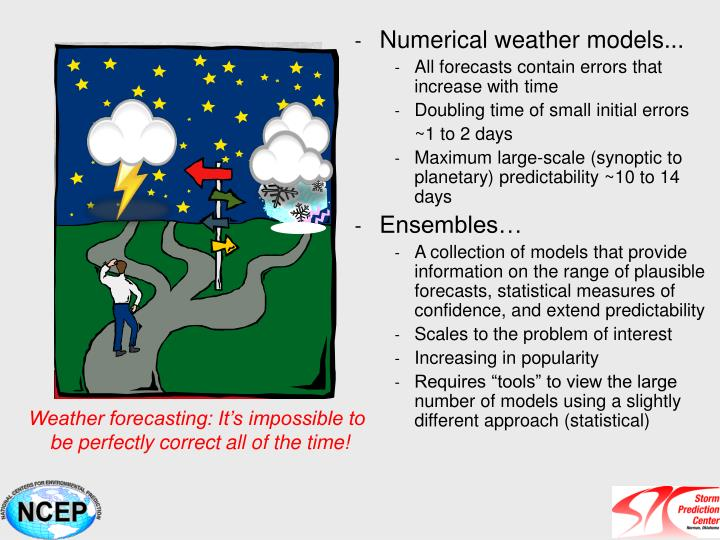 Numerical weather models...