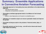summary ensemble applications in convective aviation forecasting