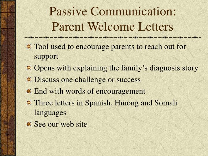 Passive Communication: