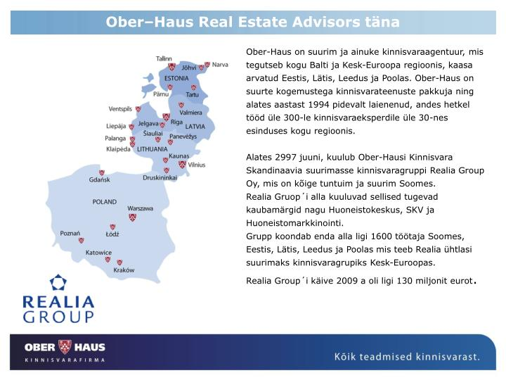 Ober–Haus Real Estate Advisors