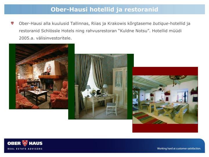 Ober-Hausi hotellid ja restoranid