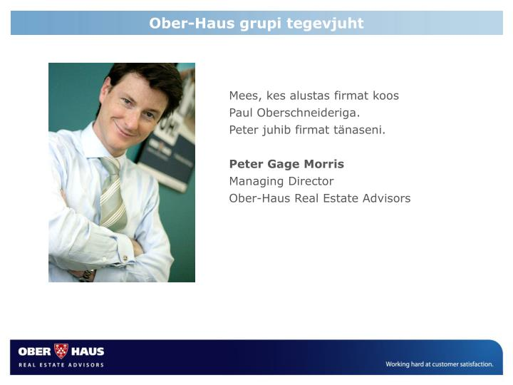 Ober-Haus grupi tegevjuht