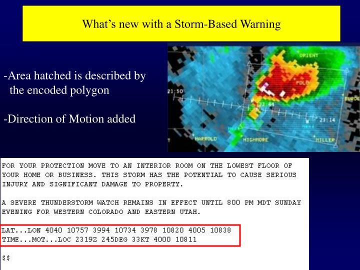 What's new with a Storm-Based Warning