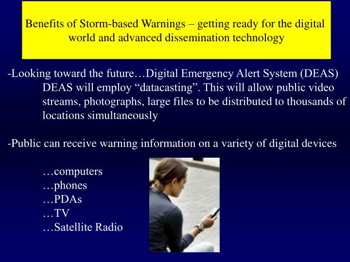 Benefits of Storm-based Warnings – getting ready for the digital
