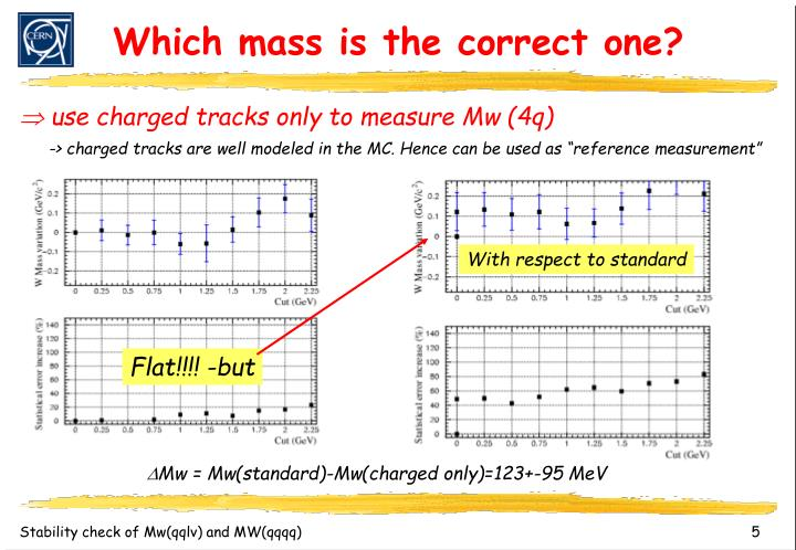 Which mass is the correct one?