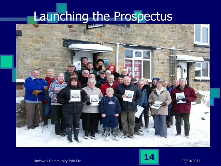 Launching the Prospectus