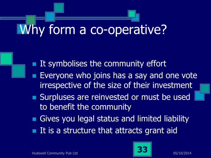 Why form a co-operative?