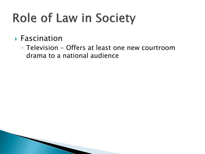 Role of Law in Society