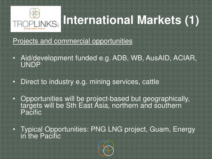 International Markets (1)