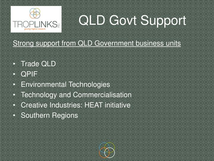 QLD Govt Support