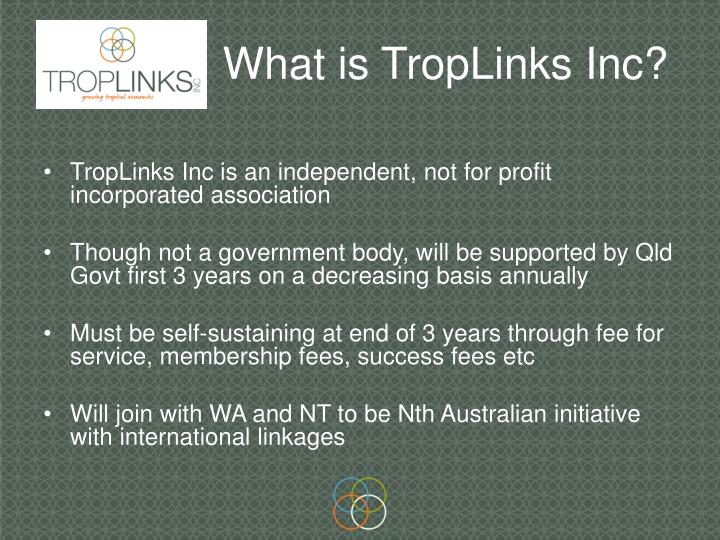 What is troplinks inc