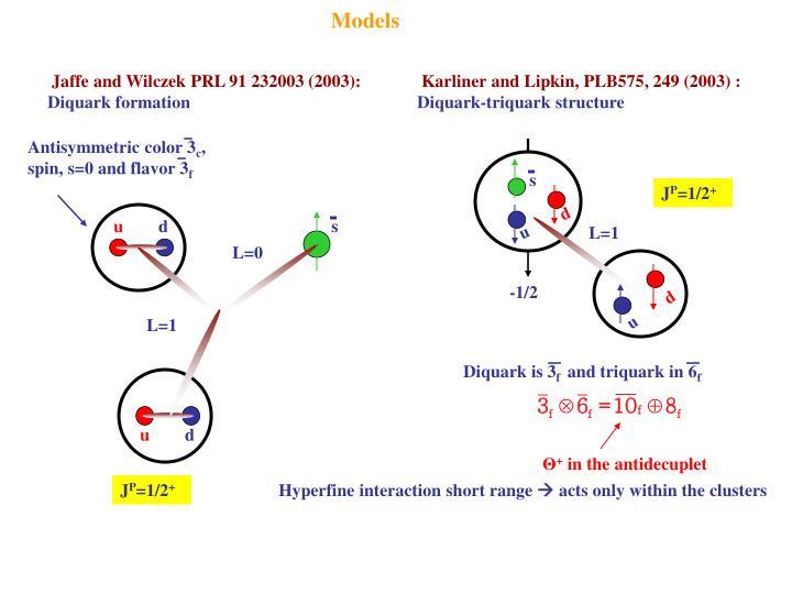 Karliner and Lipkin, PLB575, 249 (2003) :