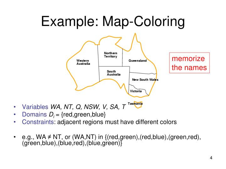 Example: Map-Coloring