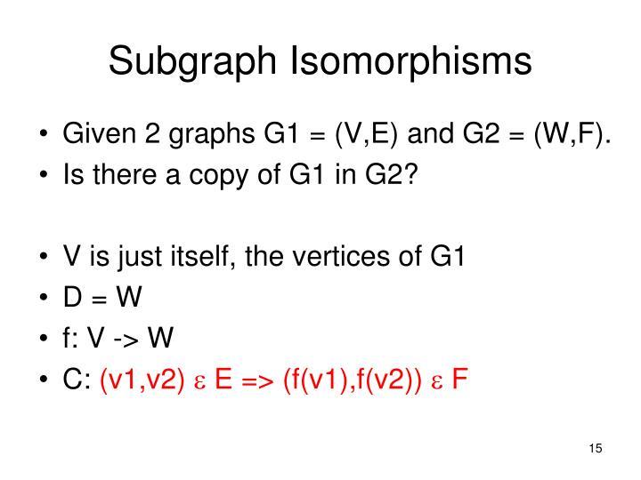 Subgraph Isomorphisms