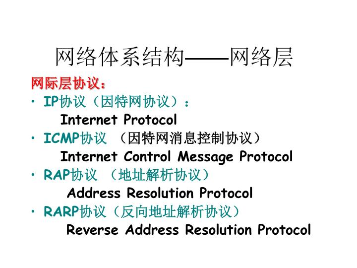 网络体系结构