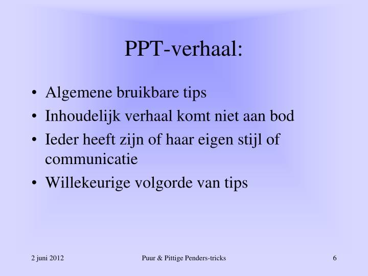 PPT-verhaal: