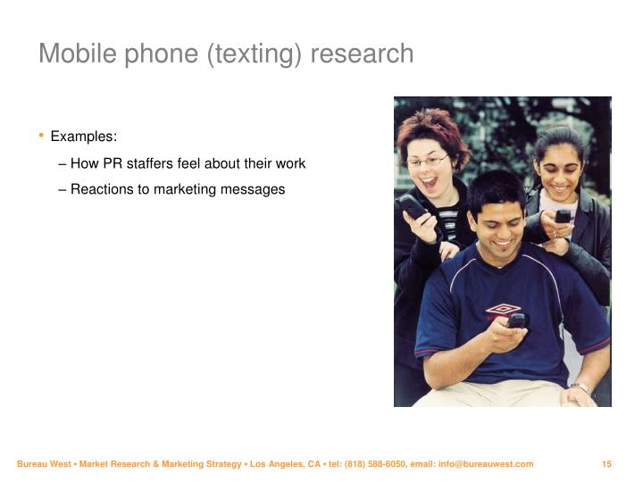 Mobile phone (texting) research