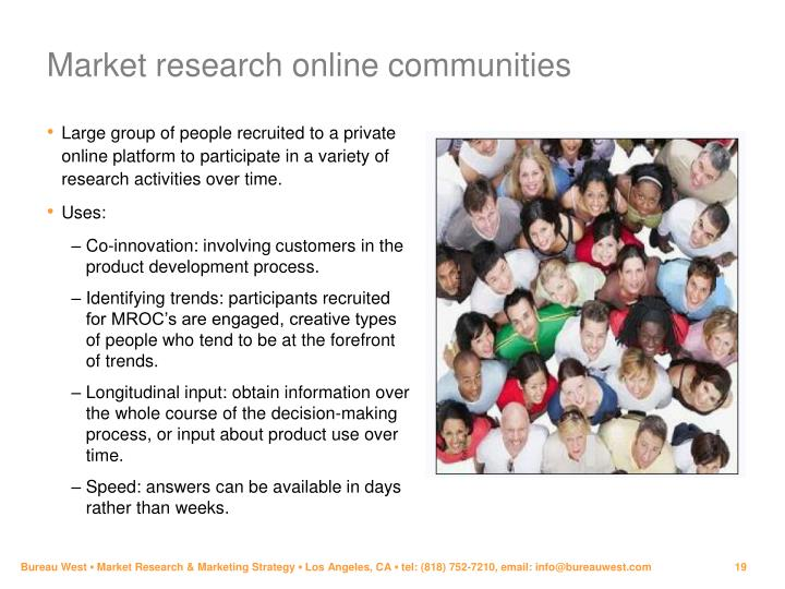 Market research online communities