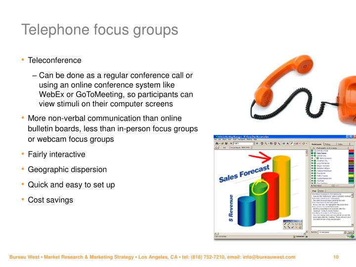 Telephone focus groups