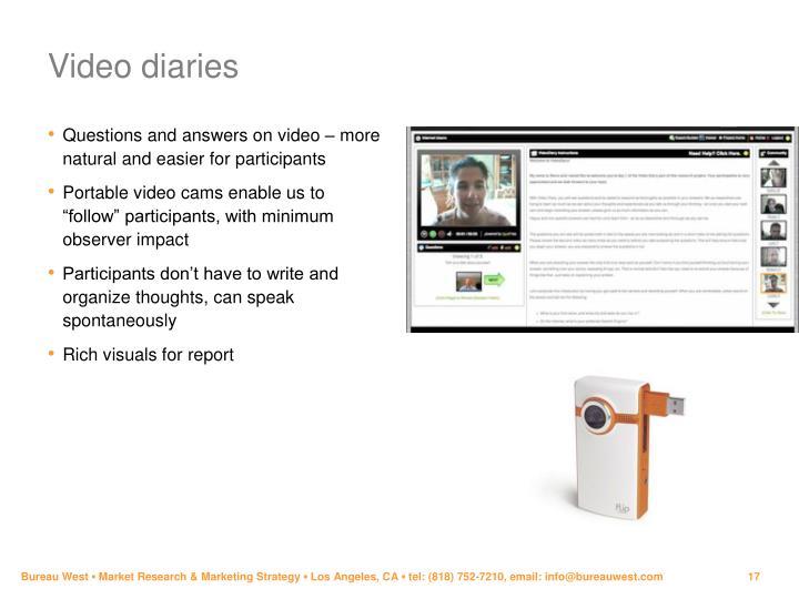 Video diaries