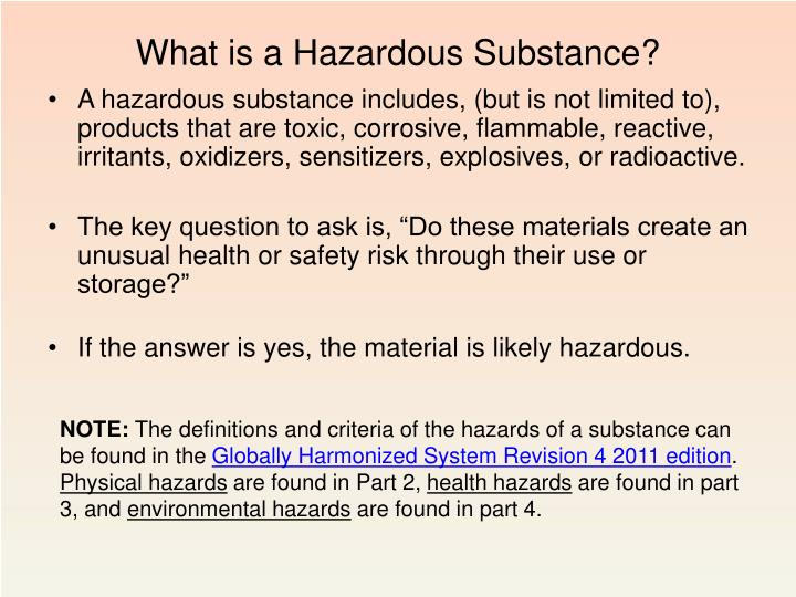 What is a Hazardous Substance?