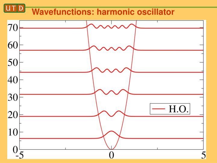 Wavefunctions: harmonic oscillator