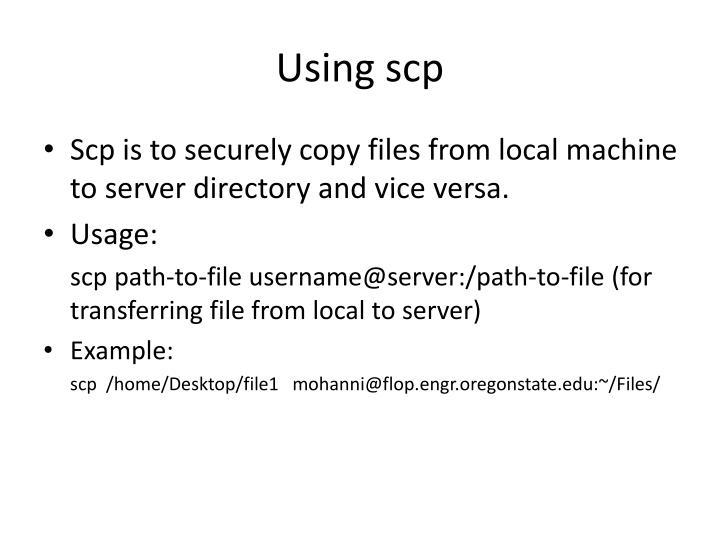 Using scp
