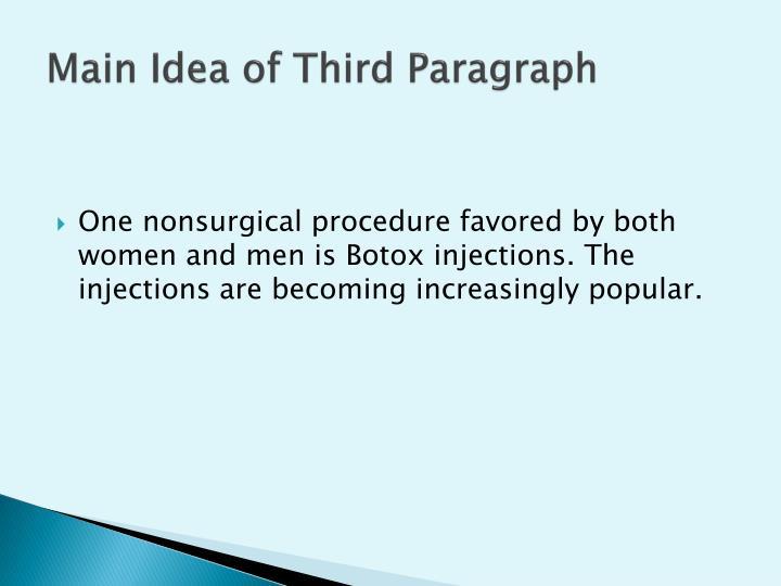 Main Idea of Third Paragraph