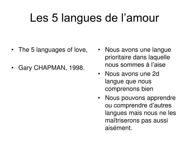 Les 5 langues de l'amour