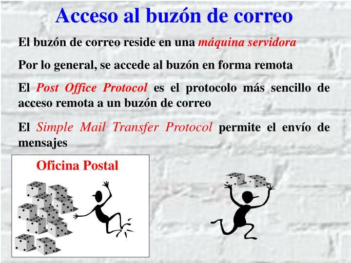 Acceso al buzón de correo