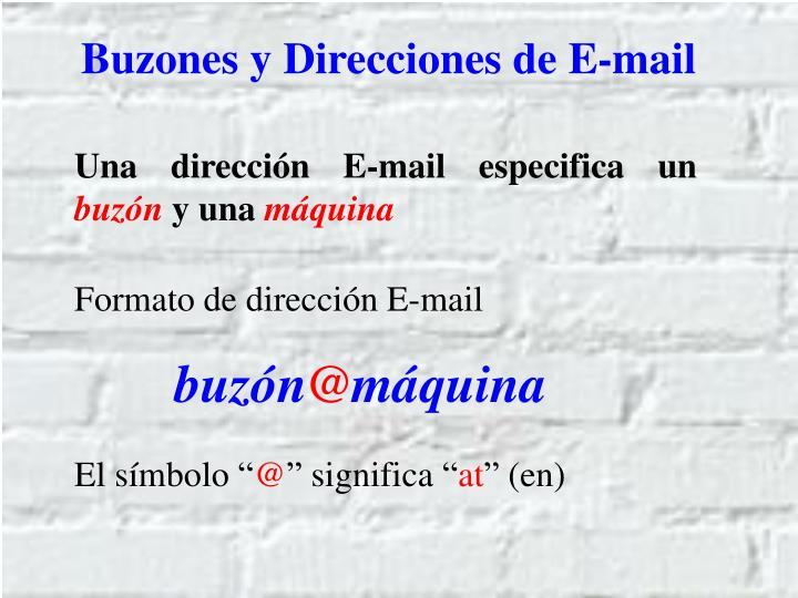 Buzones y Direcciones de E-mail