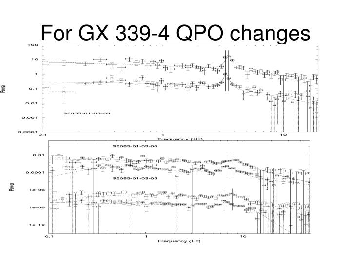 For GX 339-4 QPO changes