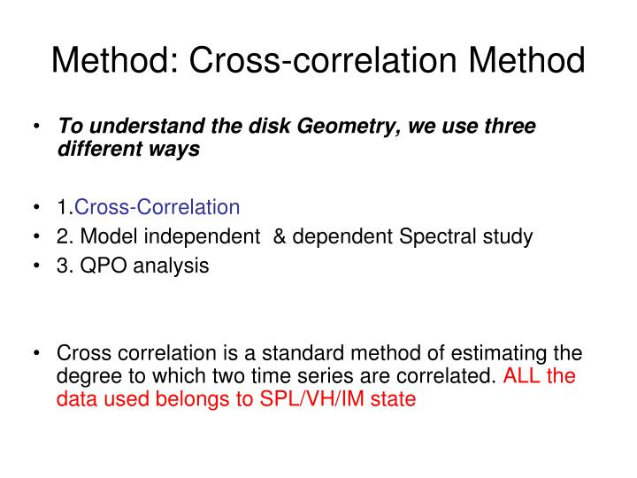 Method: Cross-correlation Method