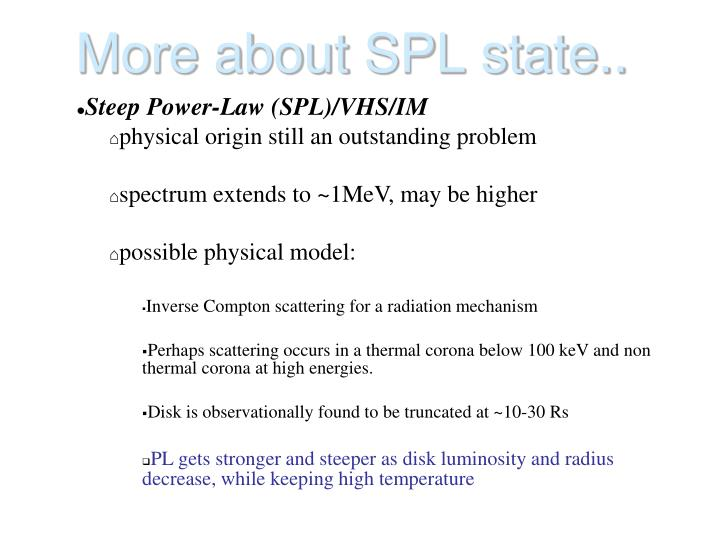 More about SPL state..